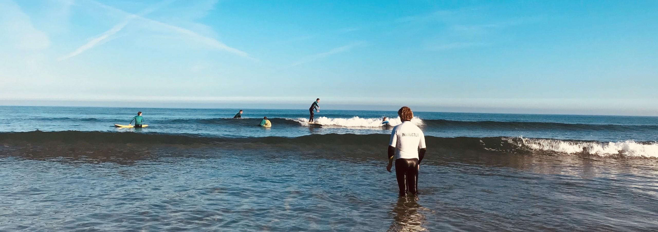 Surf lesson at dawn