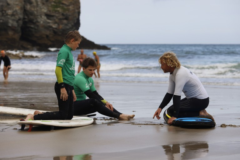 Next step in the surf lessons, outback.