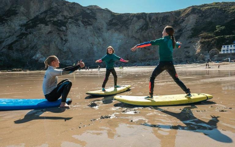 Children's private surf lesson