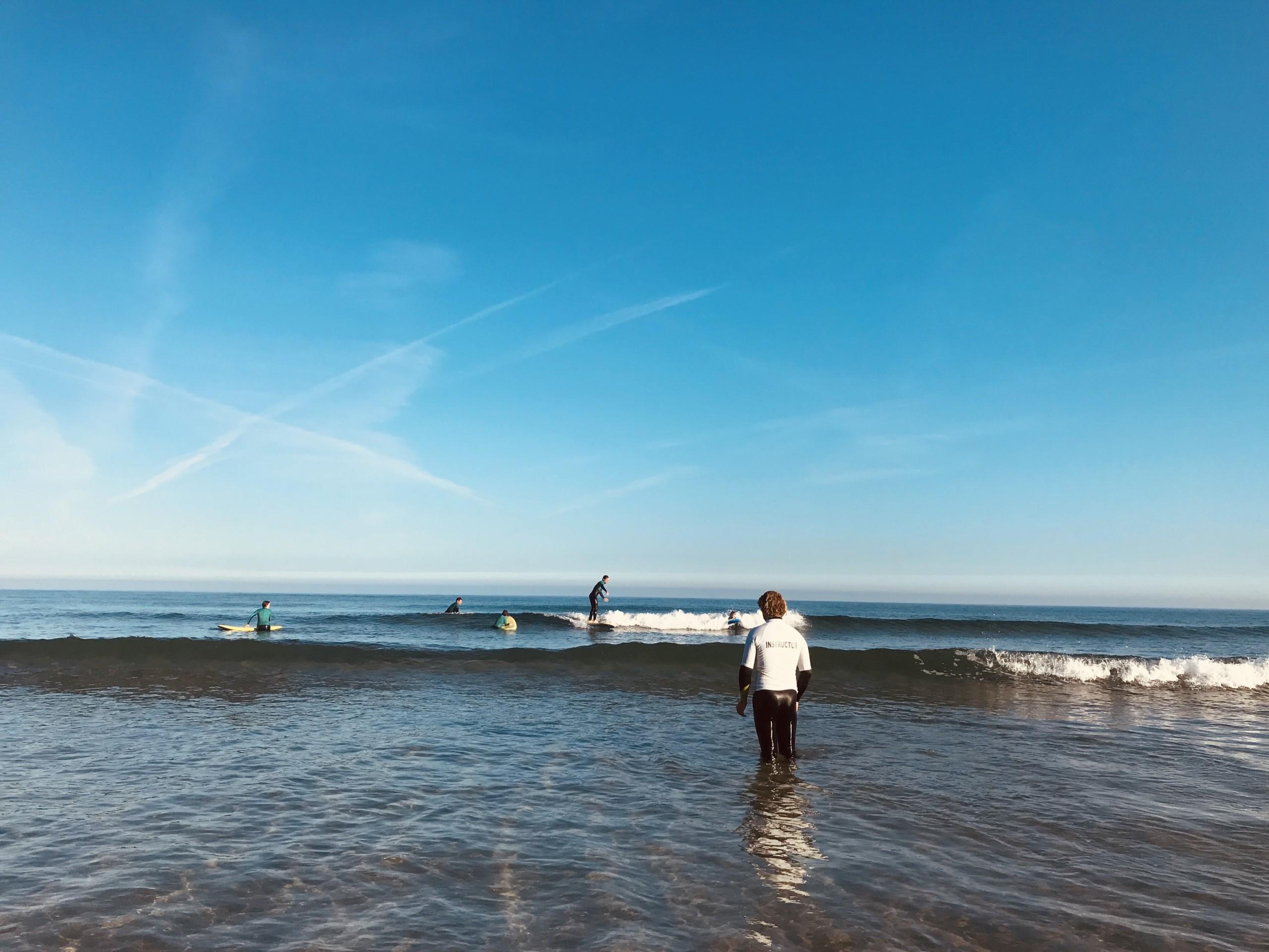 Quiet Morning surf lesson